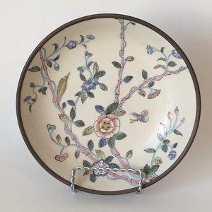 "Porcelain Bowl Macau China Pottery 7.5"" Bamboo"